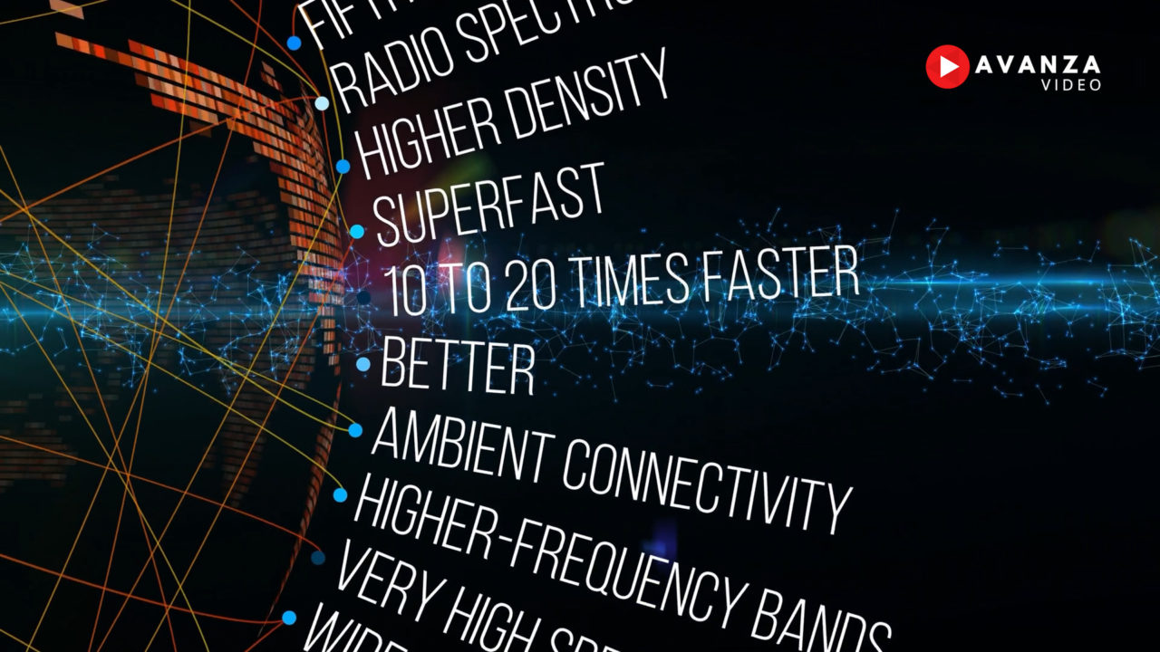 5G futuro del vídeo corporativo de empresa
